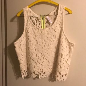 Beautiful cream color lace top;excellent condition
